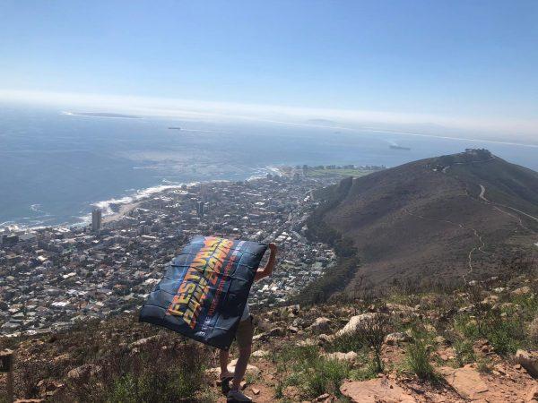 Festival ohne Bands Fahne in Kapstadt, Südafrika