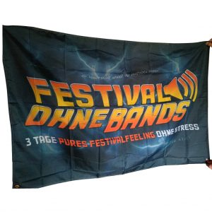 Festival ohne Bands Fahne