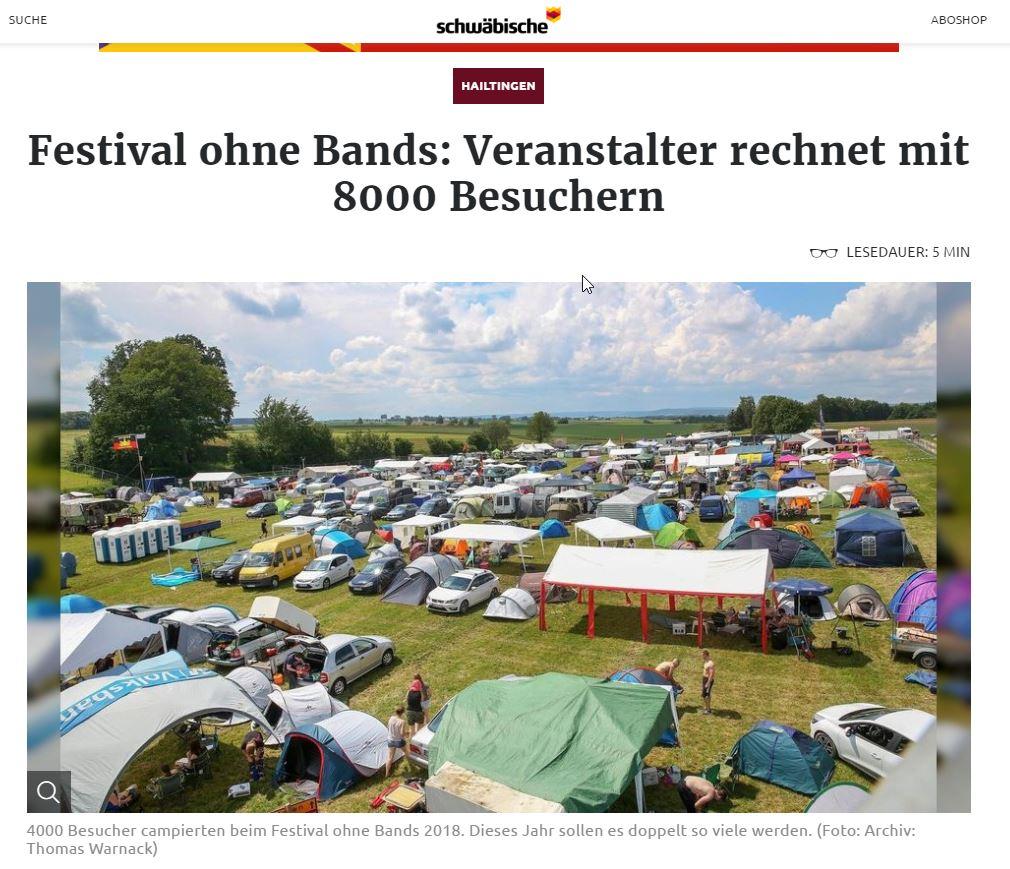 Bericht von Schwäbischer Zeitung zum FoB 2019 für den Inhalt des Berichtes bitte auf den Link im Text gehen!