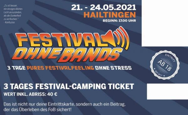 Ticket Festival ohne Bands 2021 für 40 €